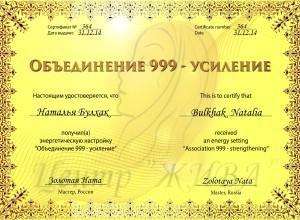 Наталья Булхак Объединение 999 (усиление)